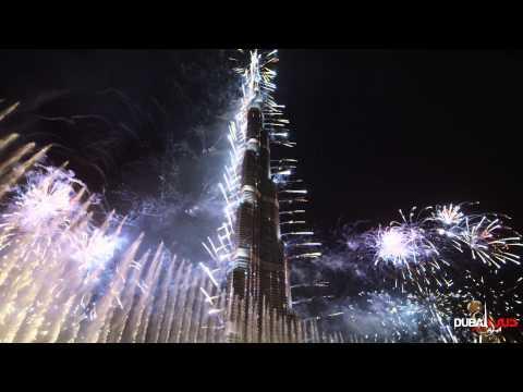 Новогодний фейерверк в Дубаи (2014 год 4K качество)